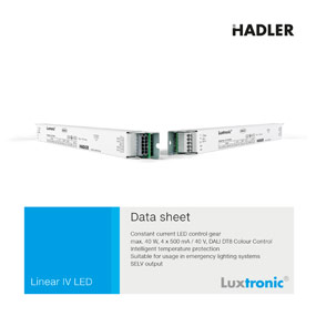 Luxtronic LED Treiber Data Sheet 3C410066 Baureihe Linear IV LED DALI neu