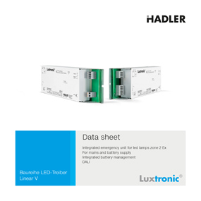 Luxtronic LED-Treiber Download Linear V NLE Data Sheet